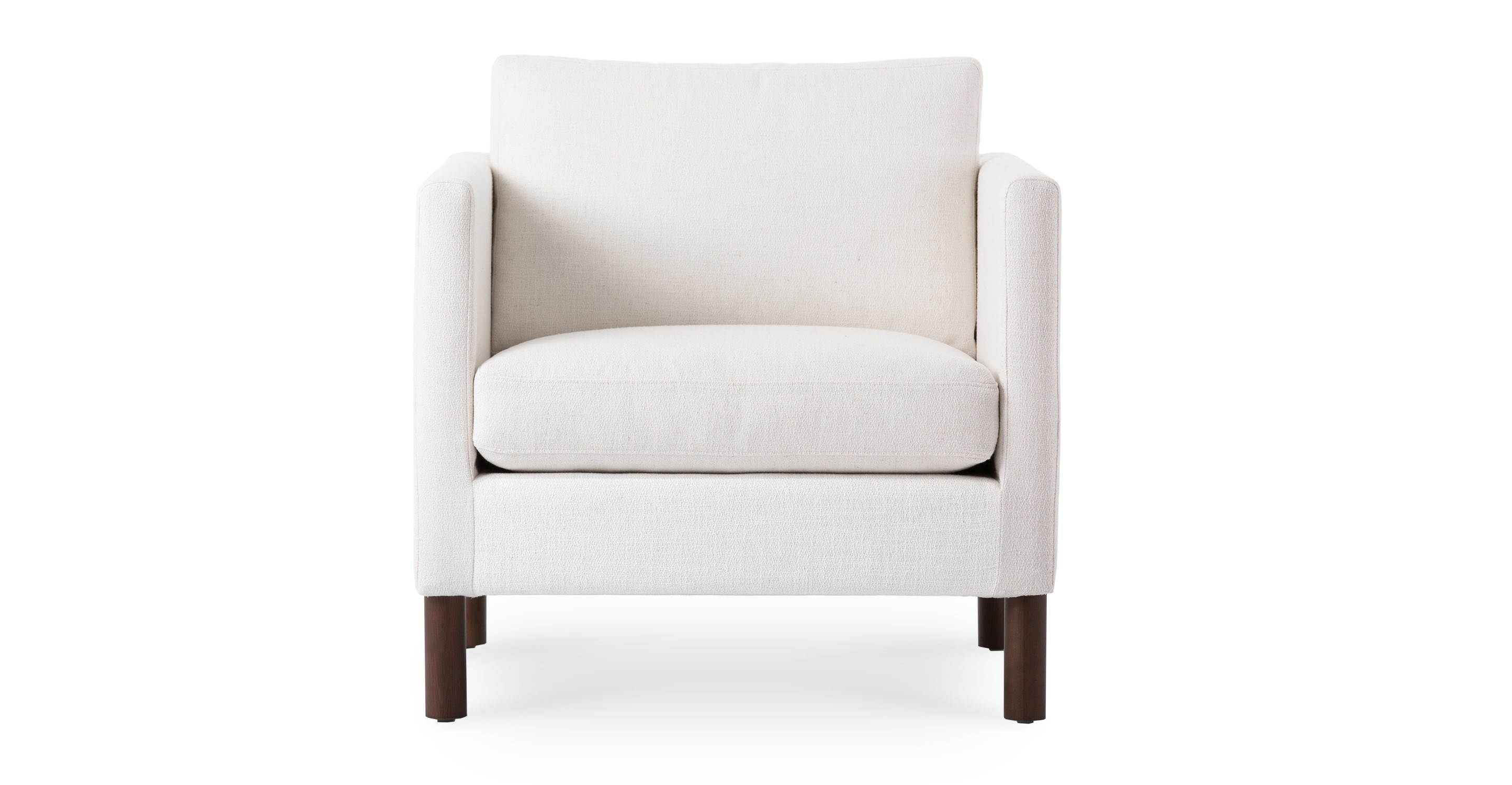 Nova creamy white armchair lounge chairs article for Arm chair white