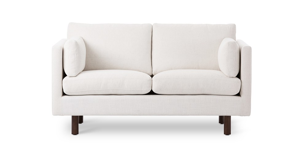 Nova Creamy White Loveseat