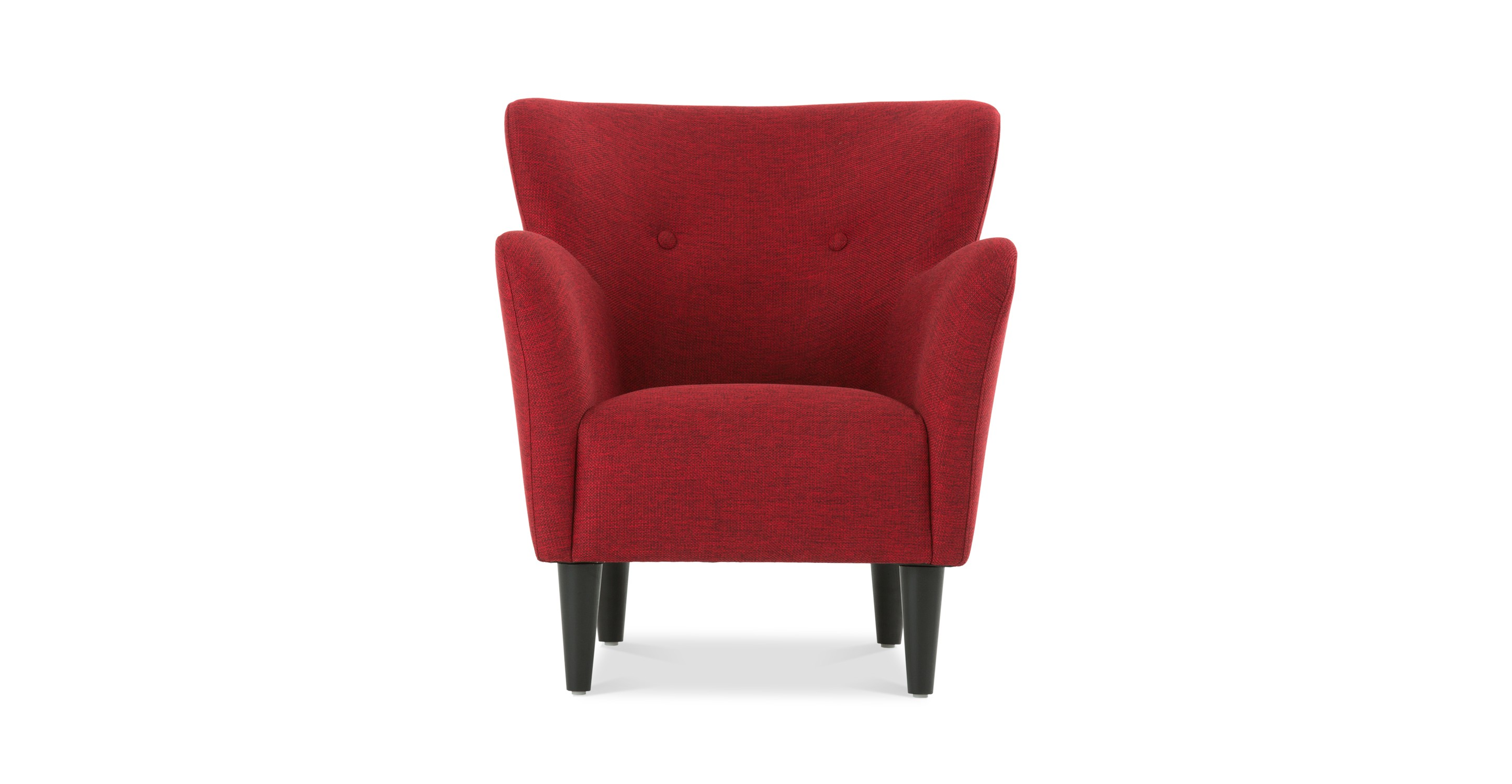 Happy picasso red armchair lounge chairs article for Small contemporary armchairs