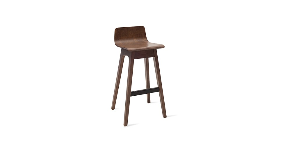 Ava Walnut Bar Stool