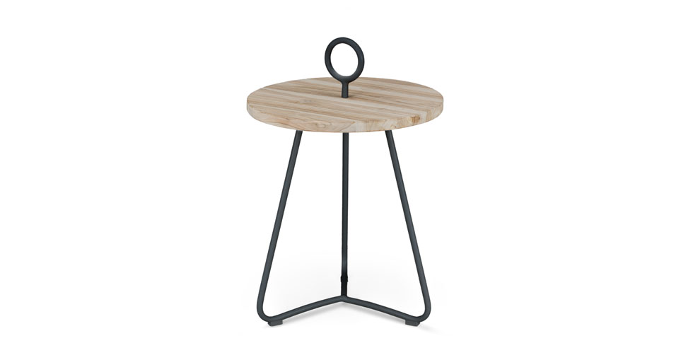Po Graphite Side Table