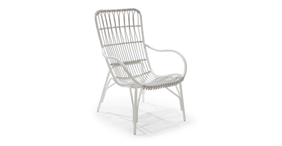 Medan White Lounge Chair