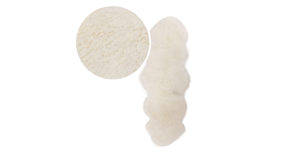 Balla Ivory Sheepskin Throw 2 x 6