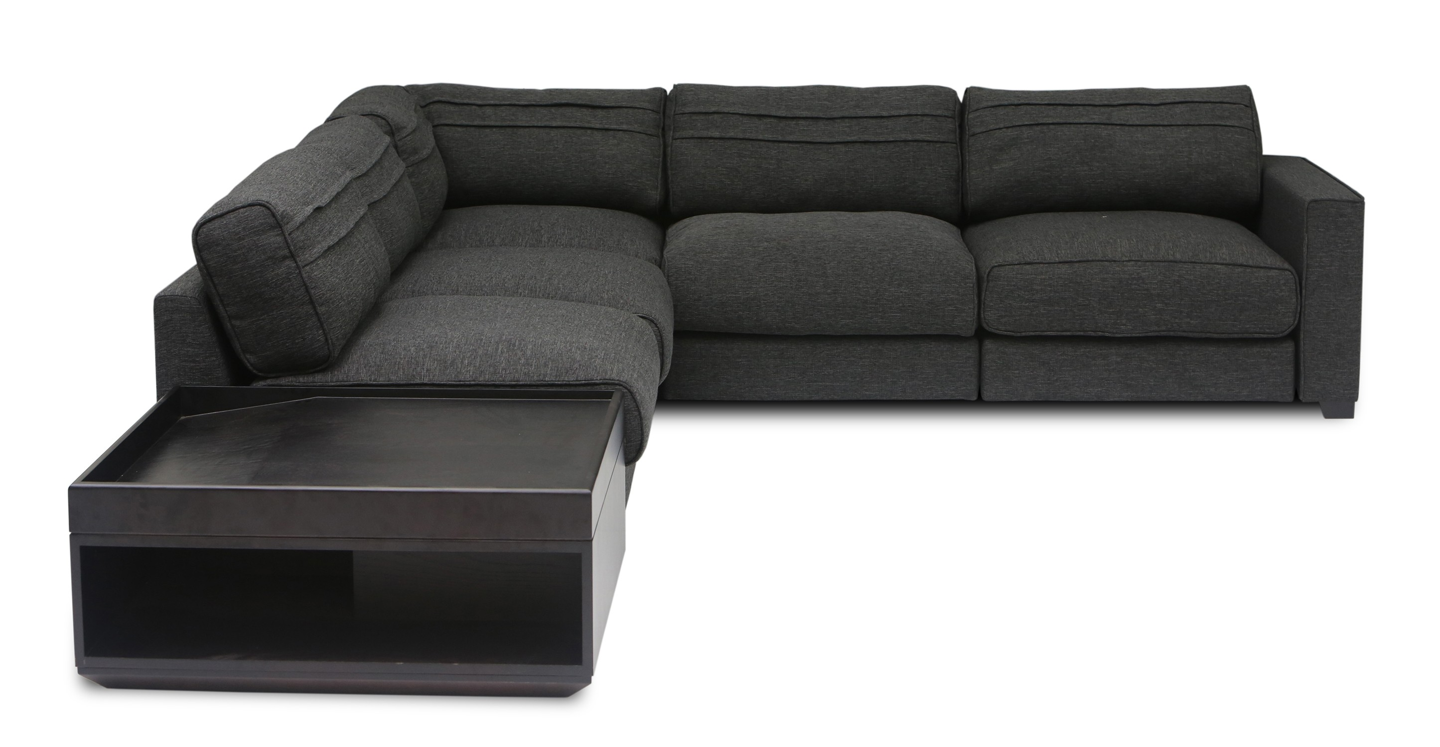 Vani Modular 4 Seat Sectional With Coffee Table