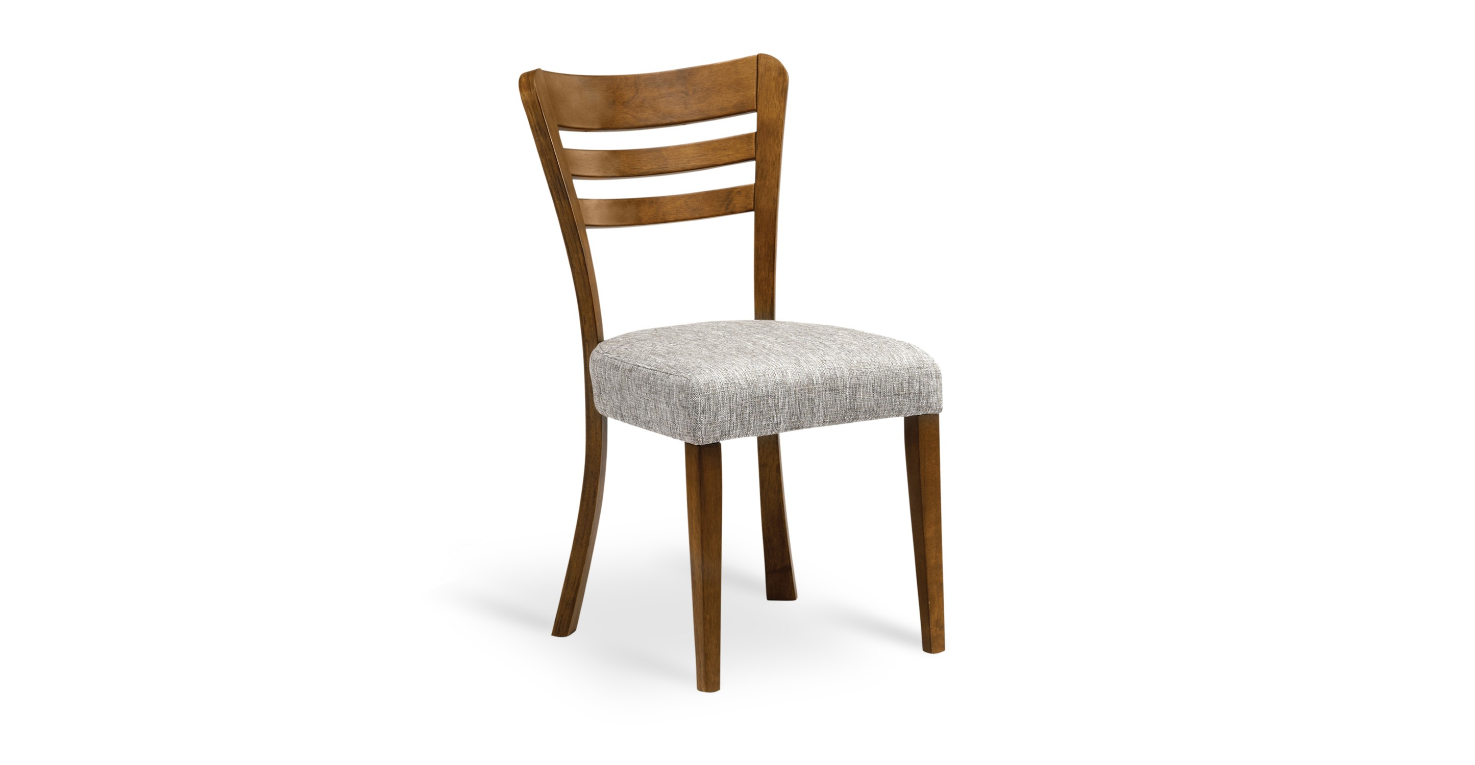 Darby coral fabric upholstered cocoa dining chair dining for Contemporary fabric dining chairs