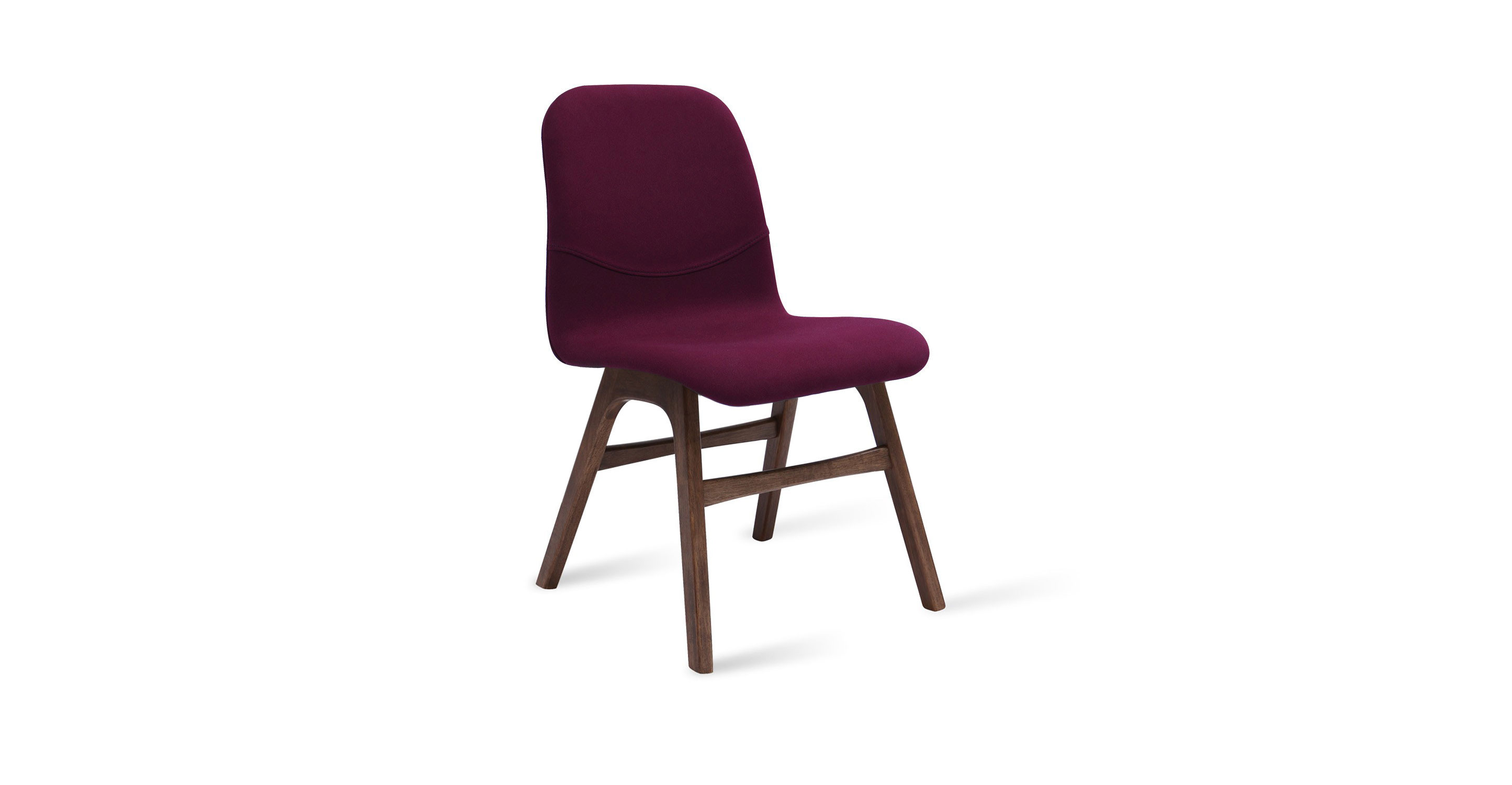 Baskets article modern mid century and scandinavian furniture - Ava Ruby Fabric Walnut Dining Chair Dining Chairs