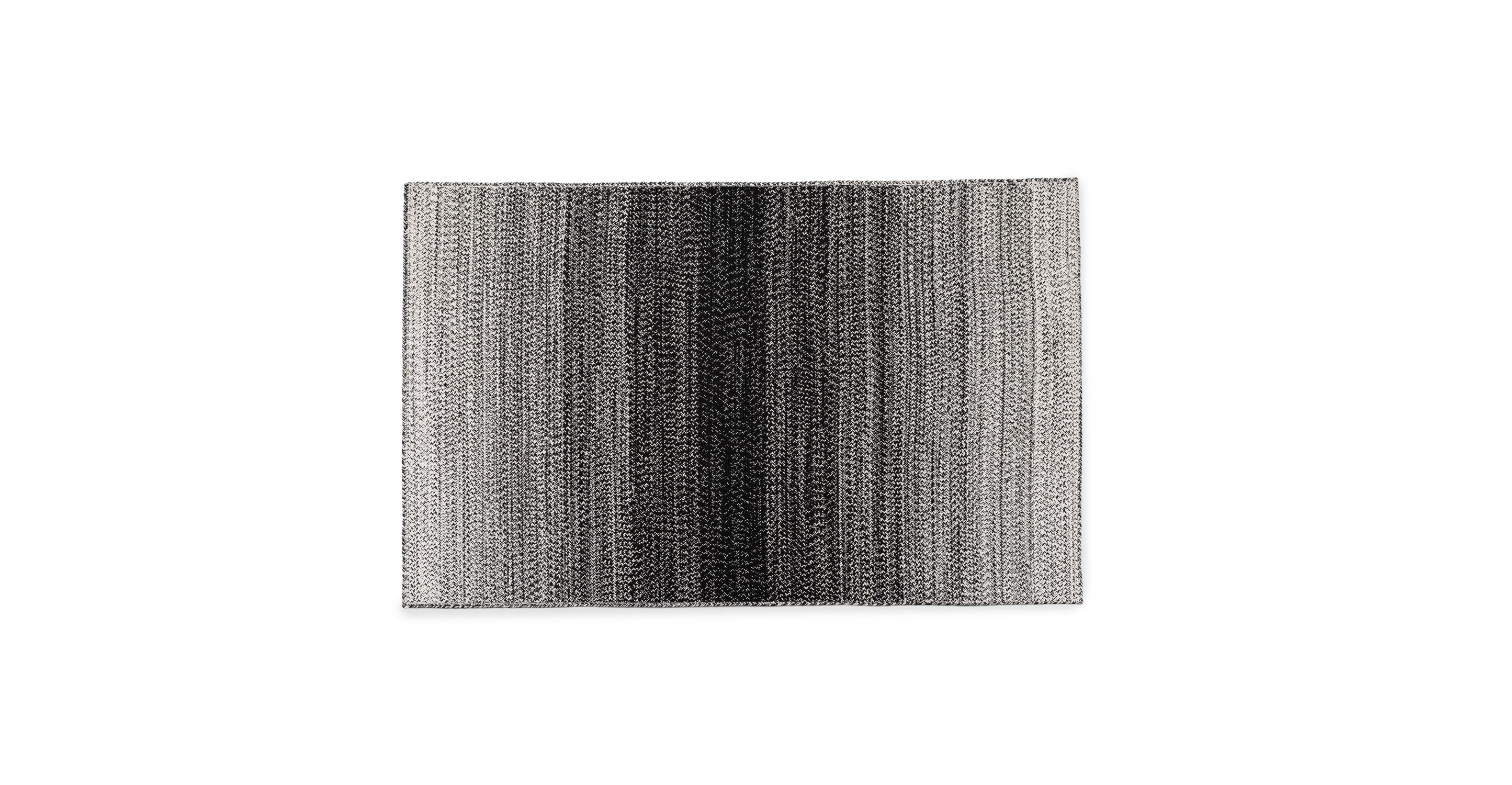 Stria Outdoor Black White Rug 5 X 8 5 X 8 Rugs