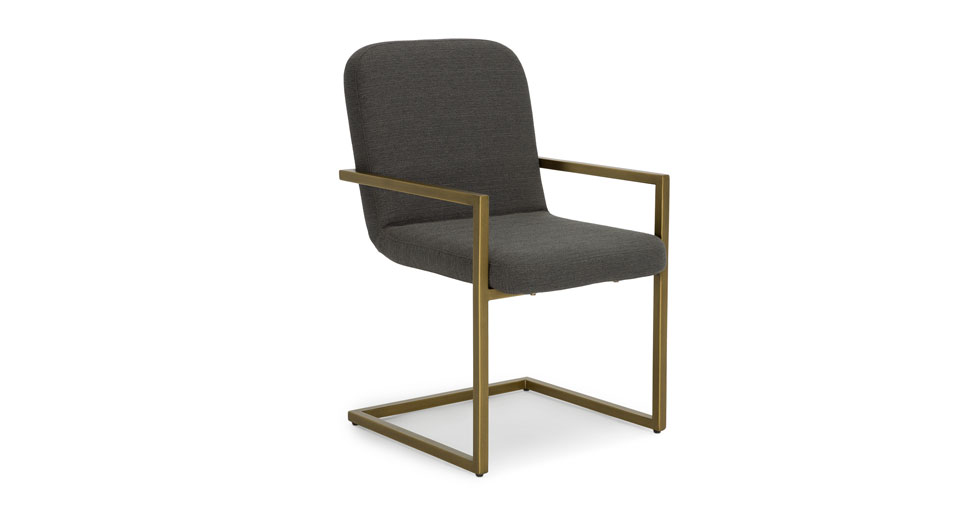 Alchemy Cinder Gray Dining Armchair
