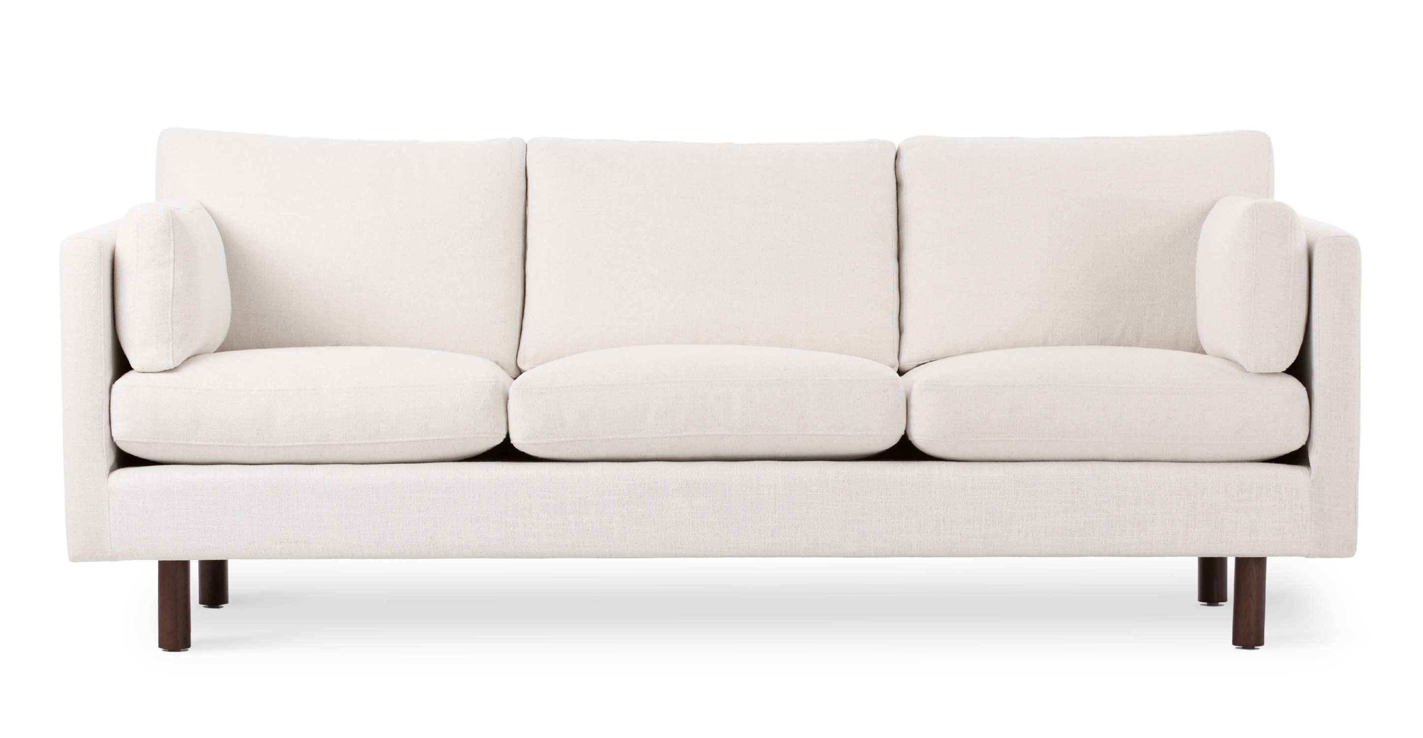 Nova creamy white sofa sofas article modern mid for Furniture sofas and couches