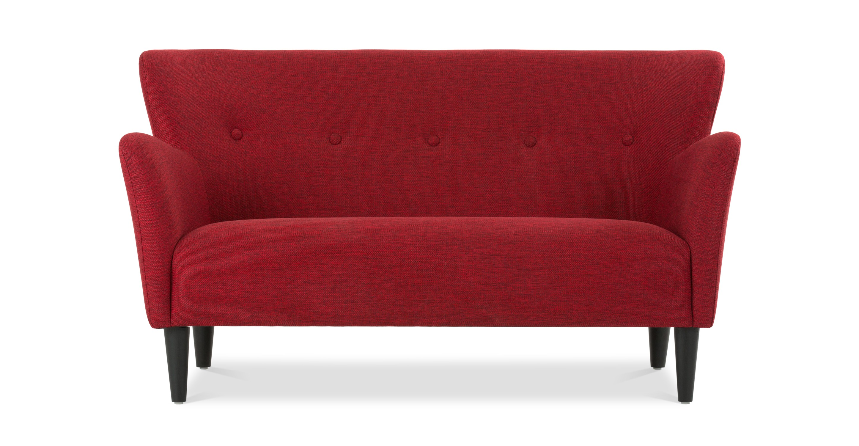 Happy picasso red loveseat loveseats article modern mid century and scandinavian furniture Red sofas and loveseats