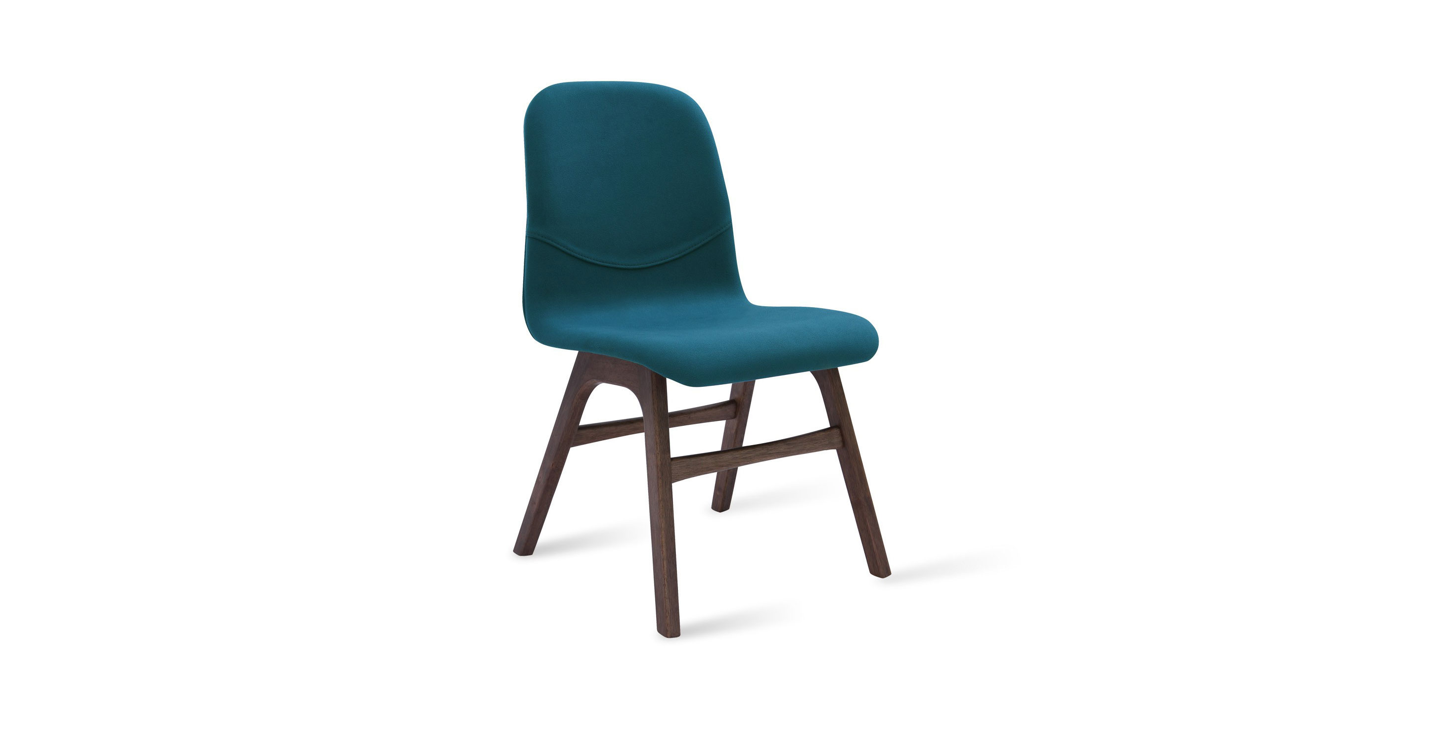 Ava Teal Fabric Walnut Dining Chair Chairs Amp Stools