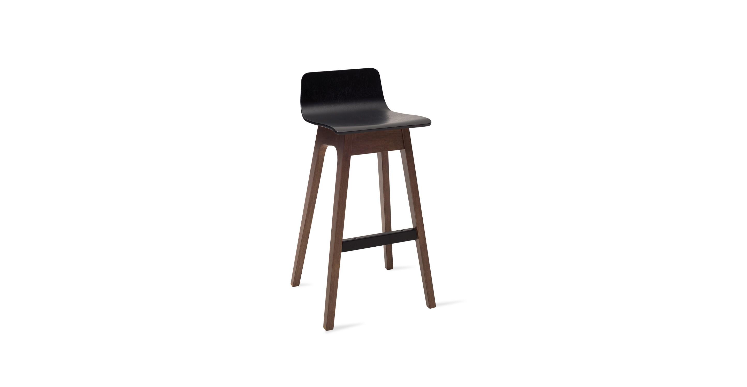 Ava black bar stool chairs stools article modern mid century and scandinavian furniture