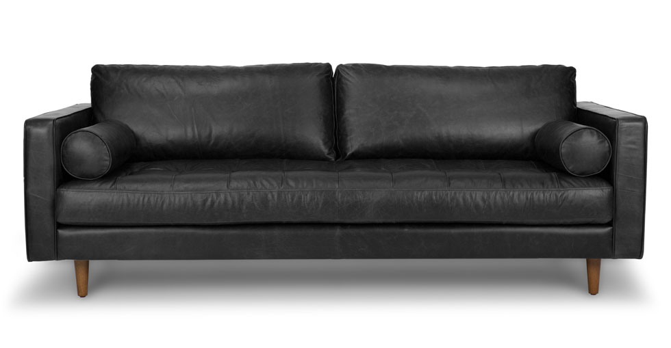Sven Oxford Black Sofa