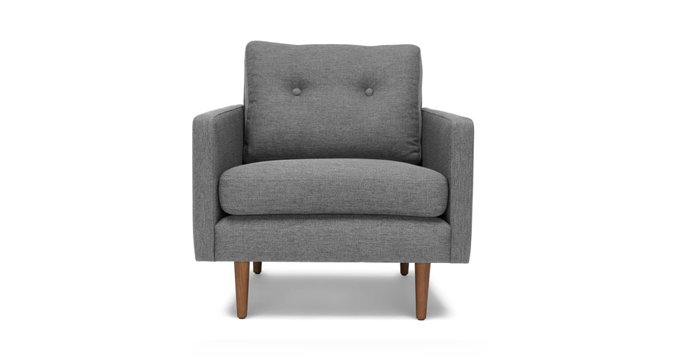 Noah Gravel Gray Armchair