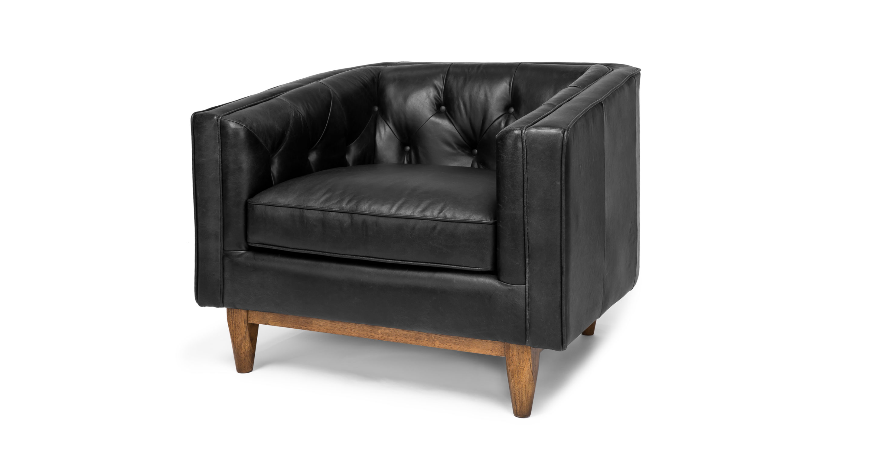 Alcott Oxford Black Armchair Lounge Chairs Article Modern Mid Century And Scandinavian