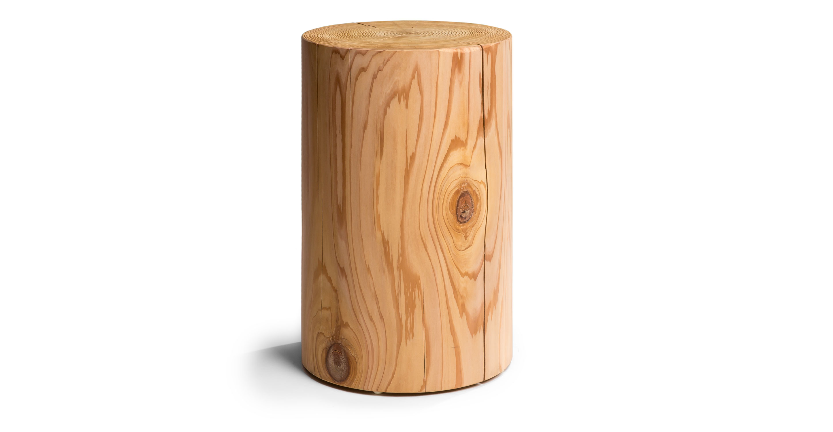 "Thuja Block 22"" Cylinder Wood Blocks Article"