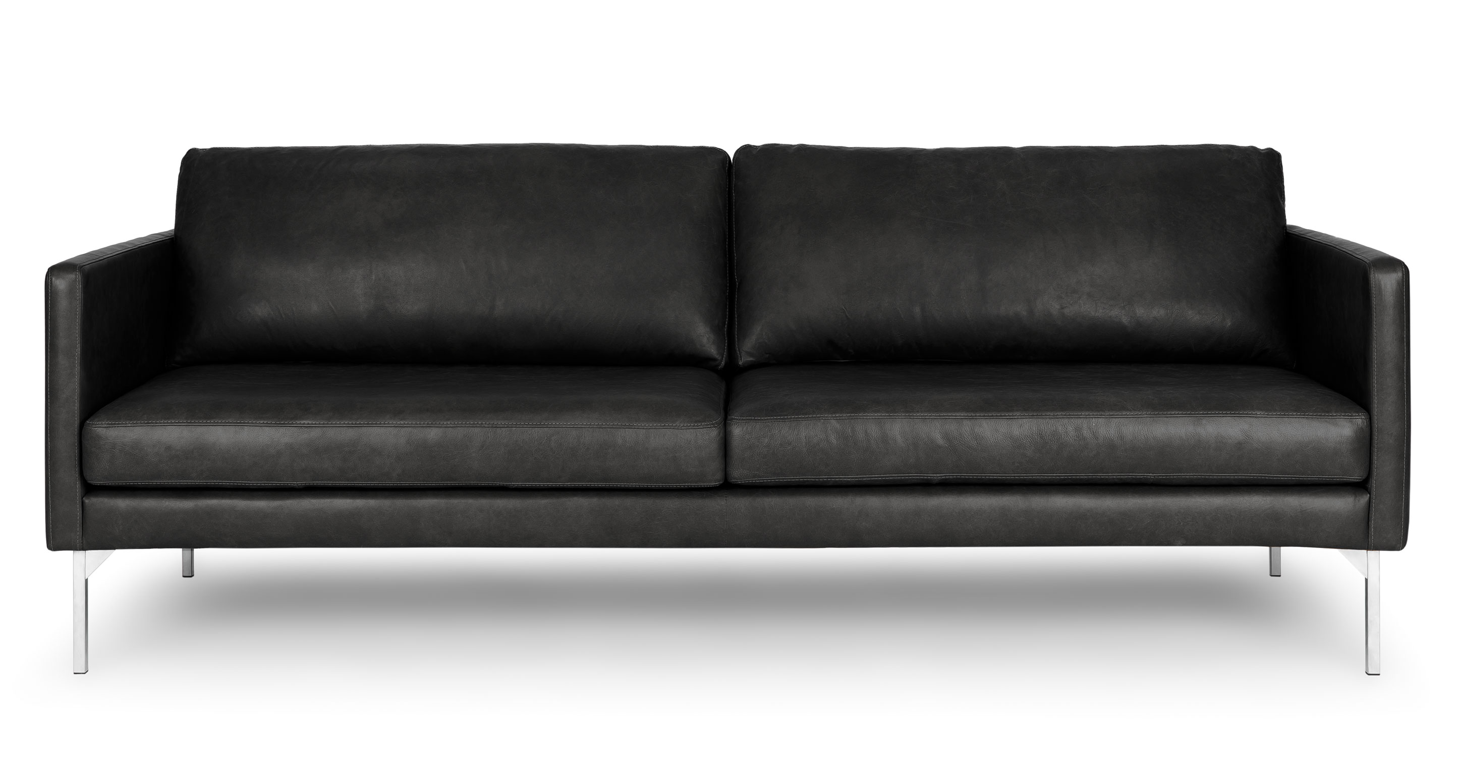 Echo Oxford Black Sofa Sofas Article Modern Mid