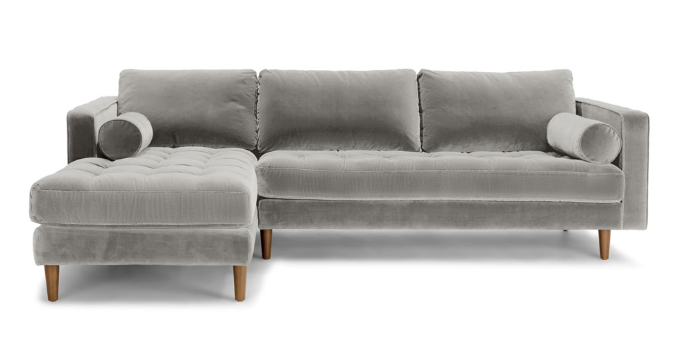 Sven Intuition Gray Left Sectional Sofa