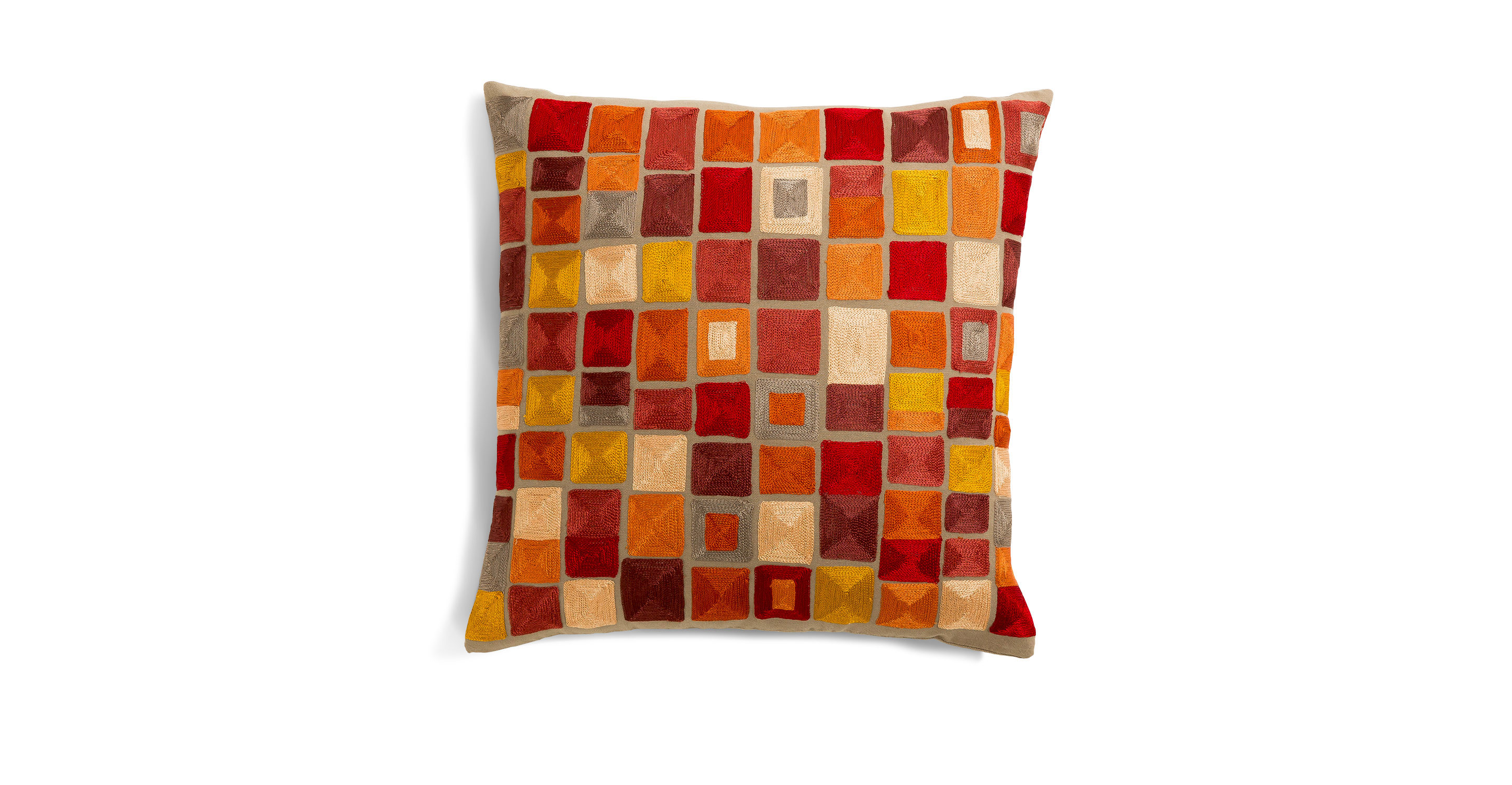 Color Block Coral Red 18 Quot Pillow Pillows Article