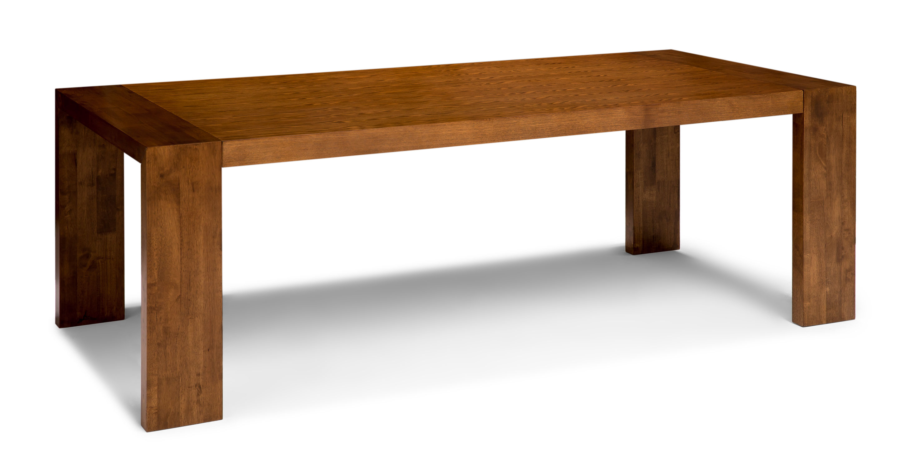 Clarkson cocoa wood dining table dining tables article for Hardwood dining table