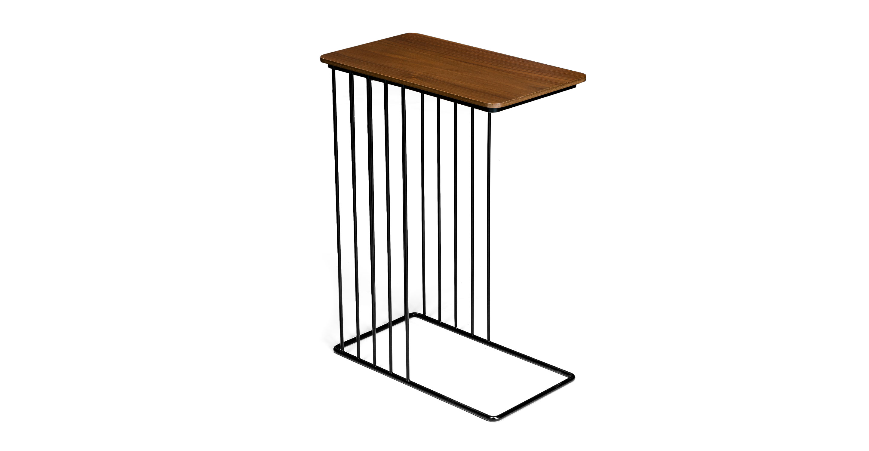 Whyr walnut side table coffee tables article modern for Walnut side table