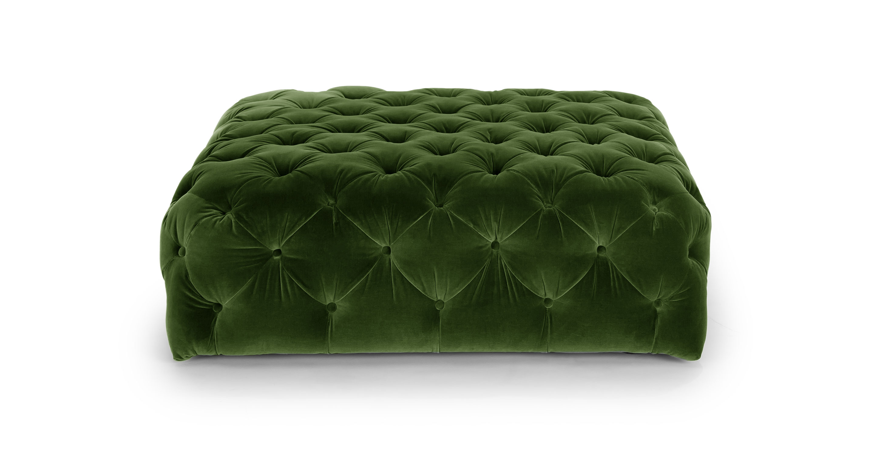 Diamond Grass Green Ottoman Ottomans Article Modern