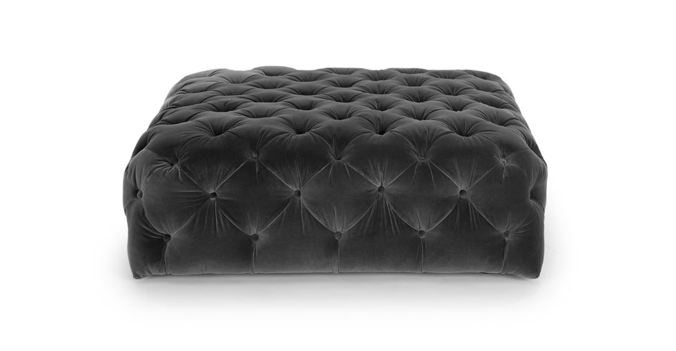 Diamond Shadow Gray Ottoman