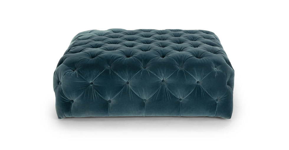 Diamond Pacific Blue Ottoman