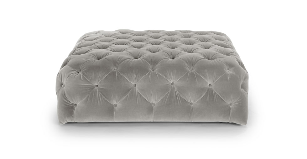 Diamond Intuition Gray Ottoman