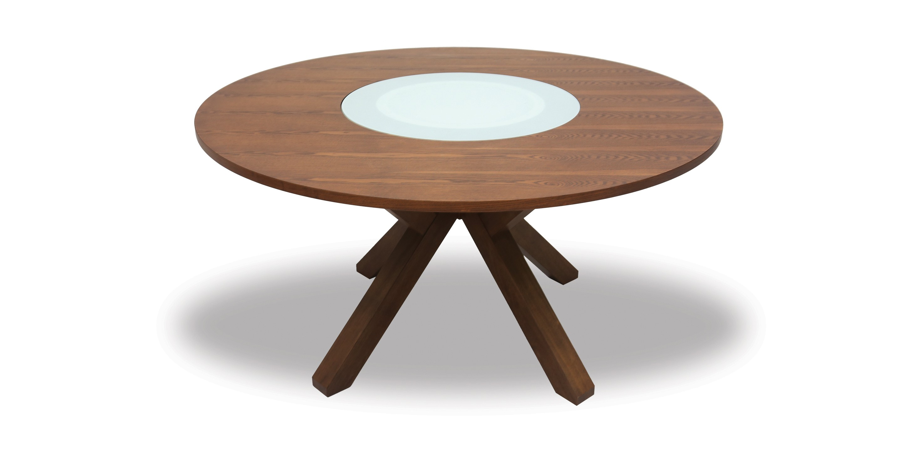 Clifford Lazy Susan Round Dining Table Glass Tables Article . Full resolution  photo, nominally Width 2890 Height 1500 pixels, photo with #623E2A.