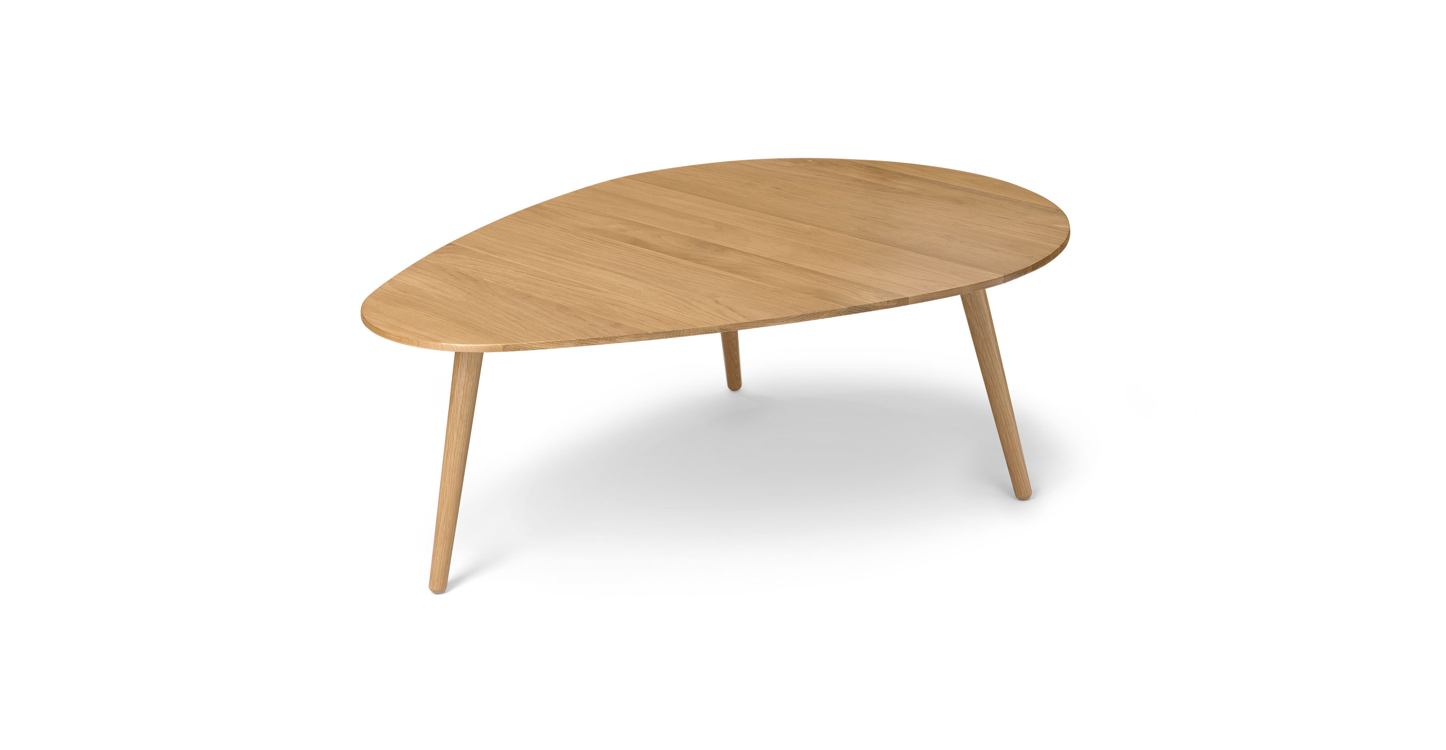 Amoeba Wild Oak 42 5 Wide Coffee Table Coffee Tables Article Modern Mid Century And