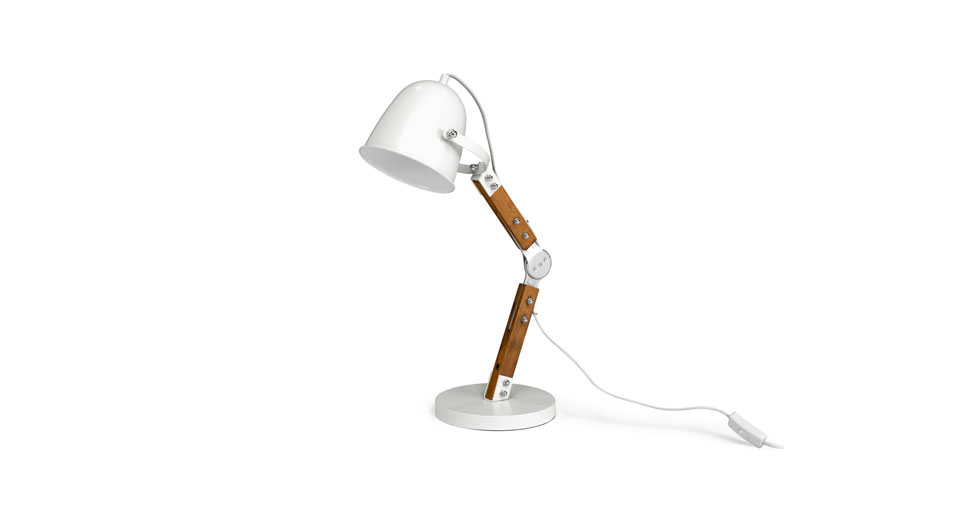 Pivot White Table Lamp