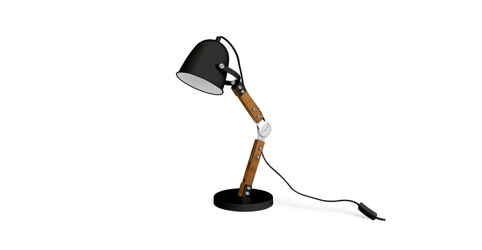 Pivot Black Table Lamp