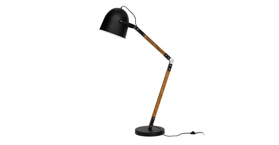 Pivot Black Floor Lamp
