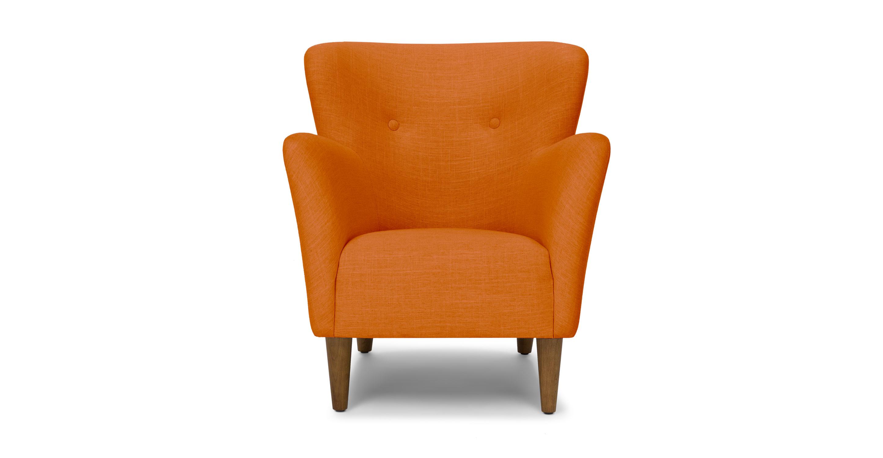 Happy Papaya Orange Armchair Lounge Chairs Article