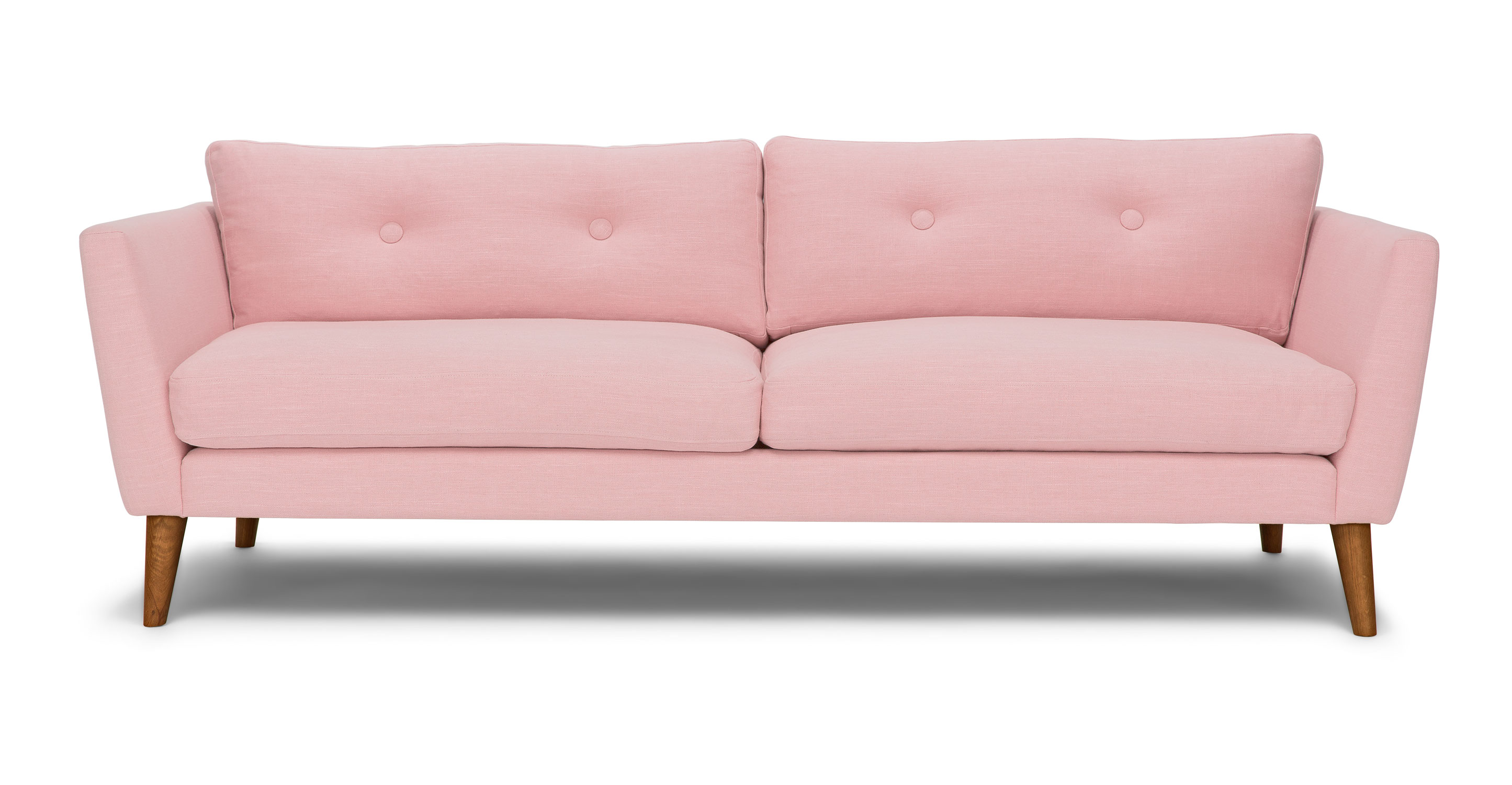 Emil quartz rose sofa sofas article modern mid for Couch und sofa