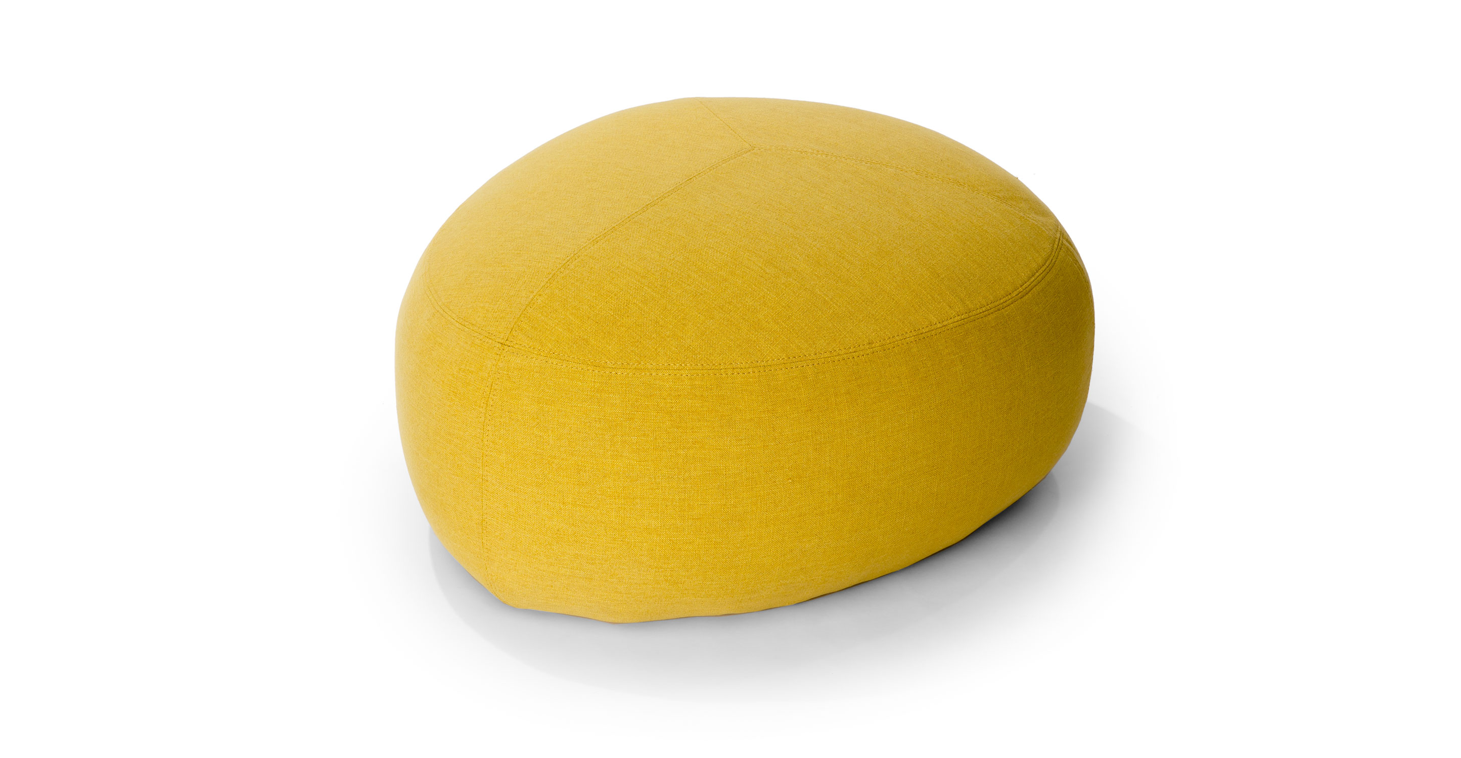 Stone Citron Yellow Ottoman Ottomans Article Modern