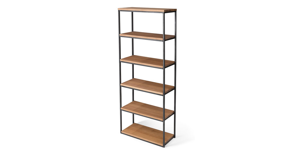 "Archive Rustic Oak 77""H Bookcase"