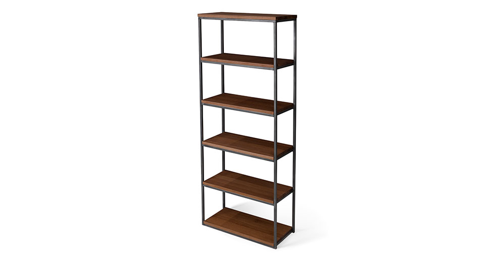"Archive Walnut 77""H Bookcase"