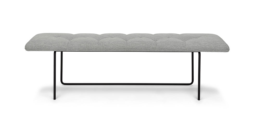 Horizon Winter Gray Bench