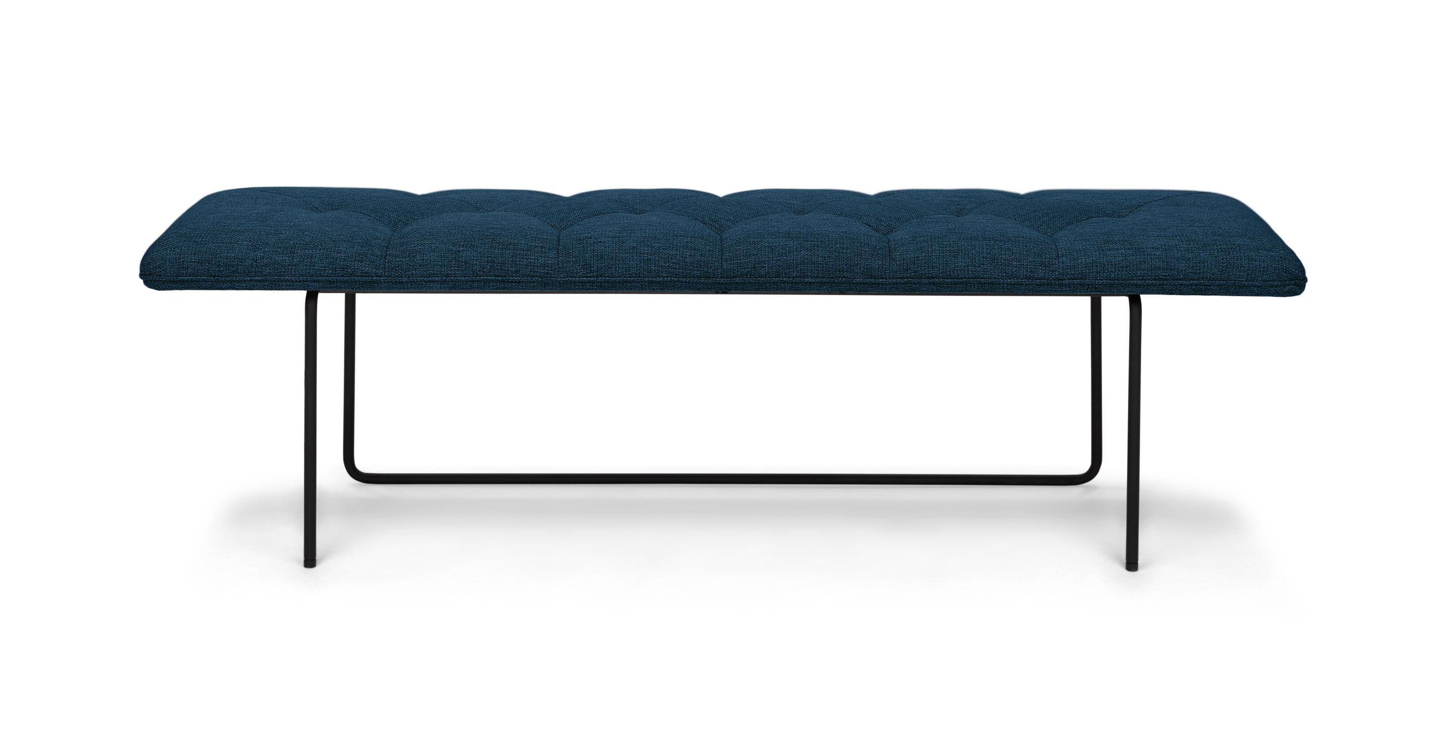 Horizon Twilight Blue Bench Benches Article Modern Mid Century And Scandinavian Furniture