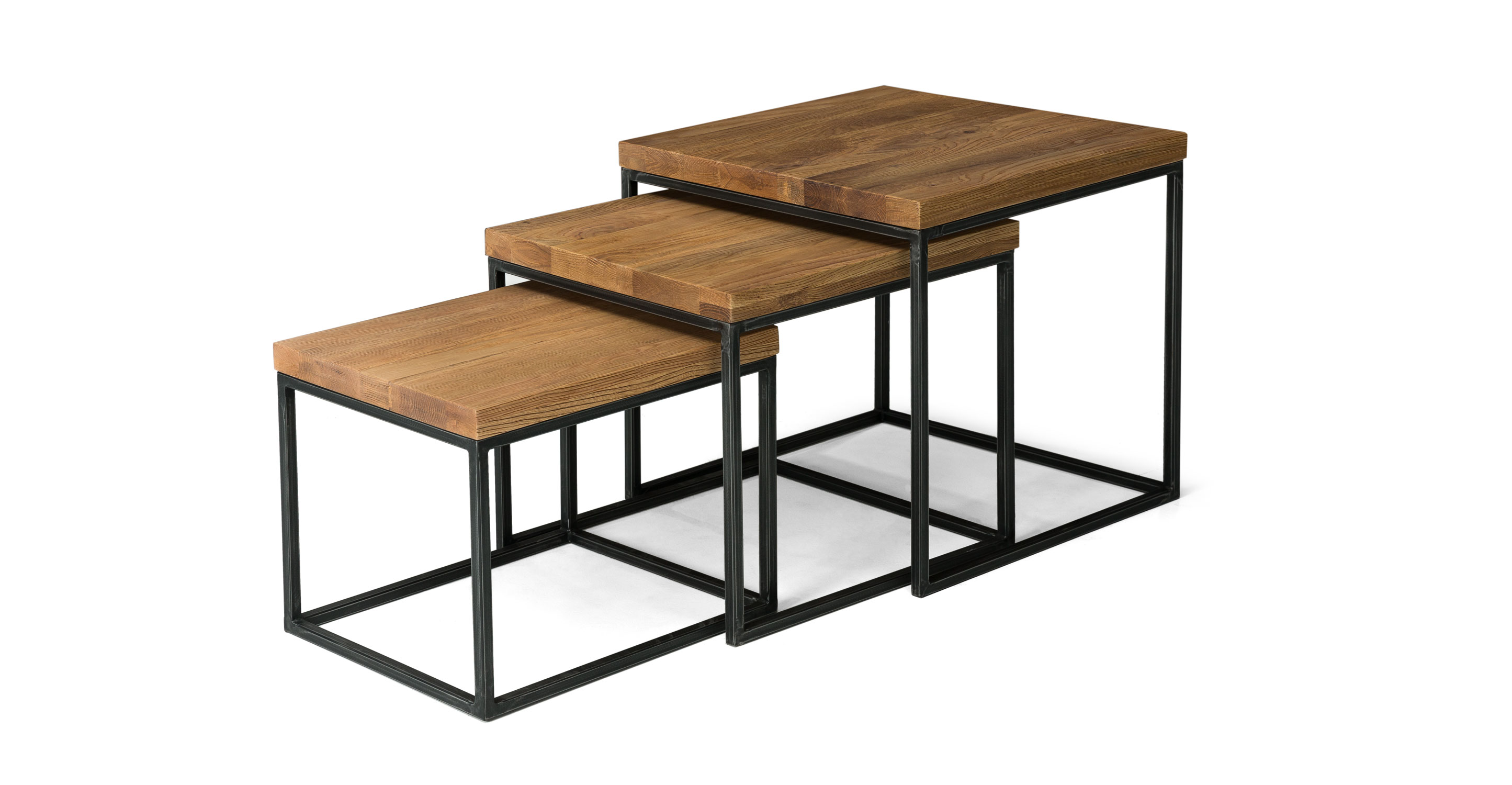 Taiga nesting tables coffee tables article modern for Modern nesting coffee tables