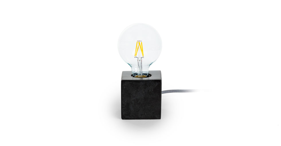 Flashcube Black Table Lamp