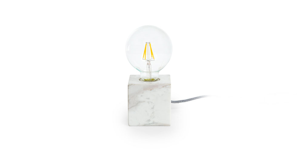 Flashcube White Table Lamp