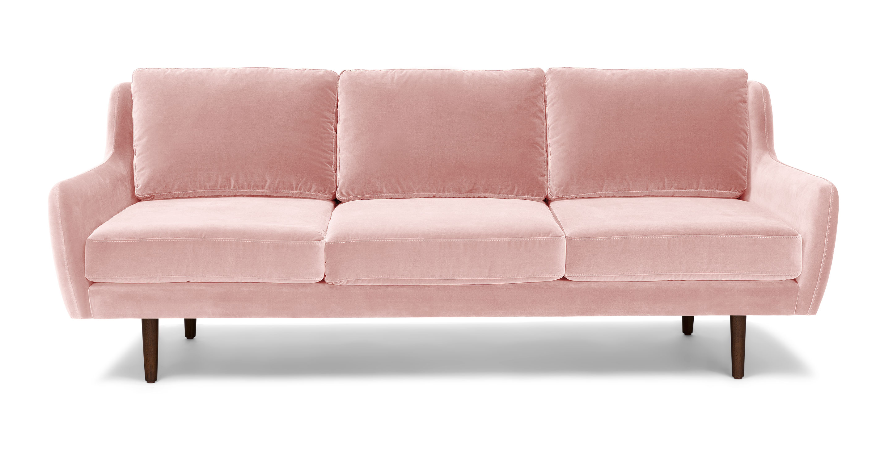 Matrix blush pink sofa sofas article modern mid for Modern love seats