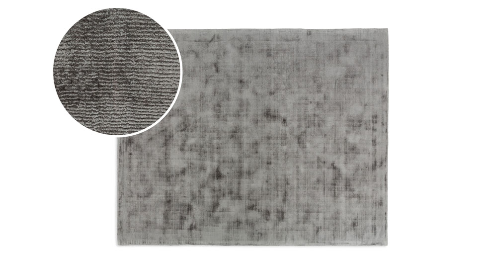 Crush Platinum Gray Rug 8 x 10
