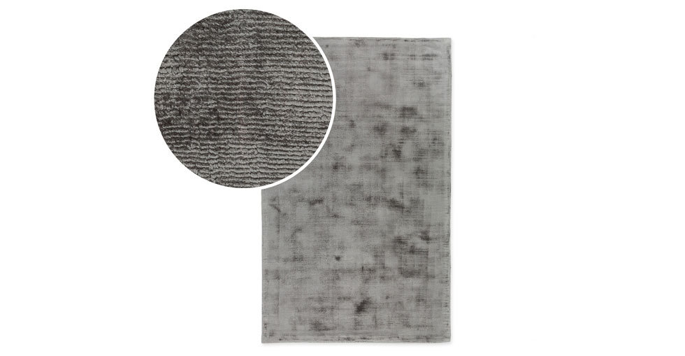 Crush Platinum Gray Rug 5 x 8