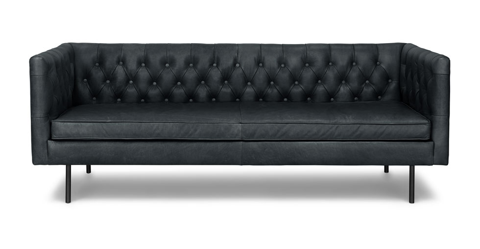 Chester Charme Black Sofa
