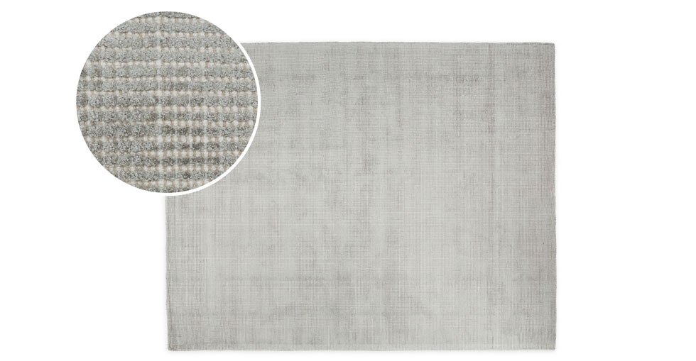 Sheena Dove Gray Rug 8 x 10