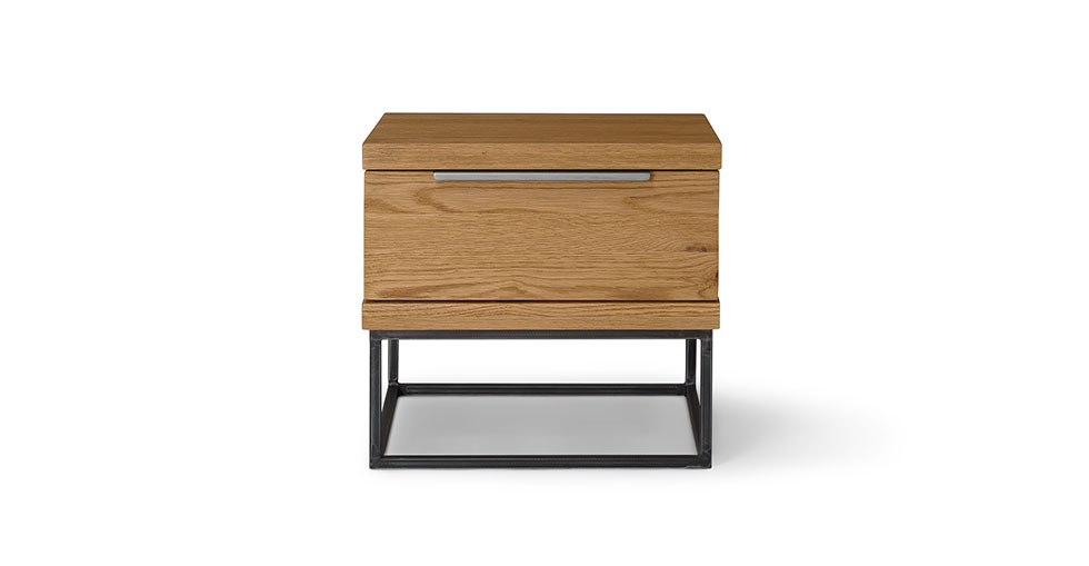 Taiga Oak 1 Drawer Nightstand